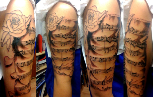 Piano Tattoo Images & Designs