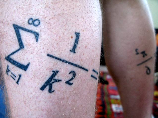 Back Leg Mathematical Sigma Formula Tattoo