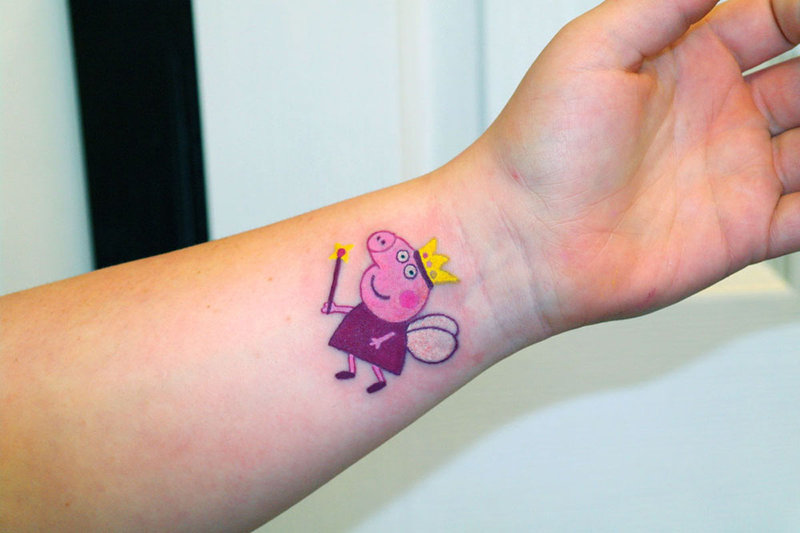 Pig tattoo images designs for Peppa pig tattoo