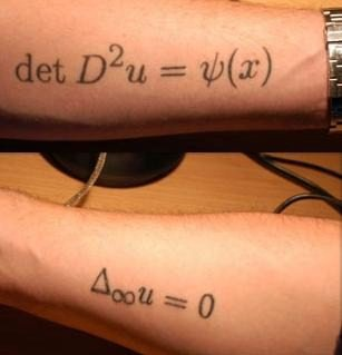 Mathematical Equation Tattoos On Arms