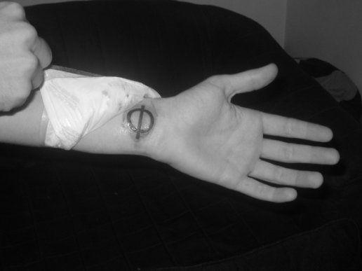 Phi Math Tattoo On Left Wrist