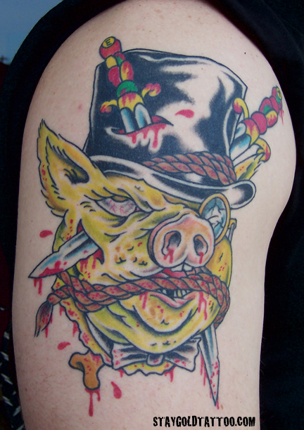 Pig Tattoo Images Amp Designs
