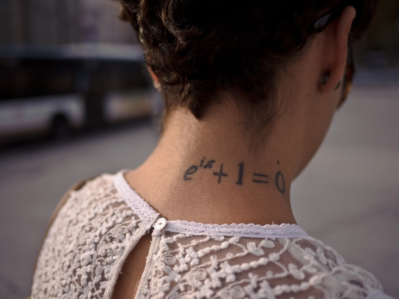 Math tattoo images designs for Side neck tattoos