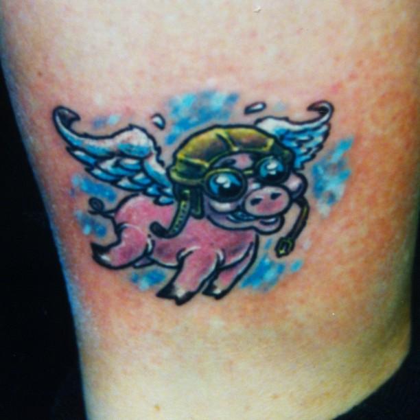 Willterrell Flying Pig Tattoo DesignFlying Pig Tattoo Designs
