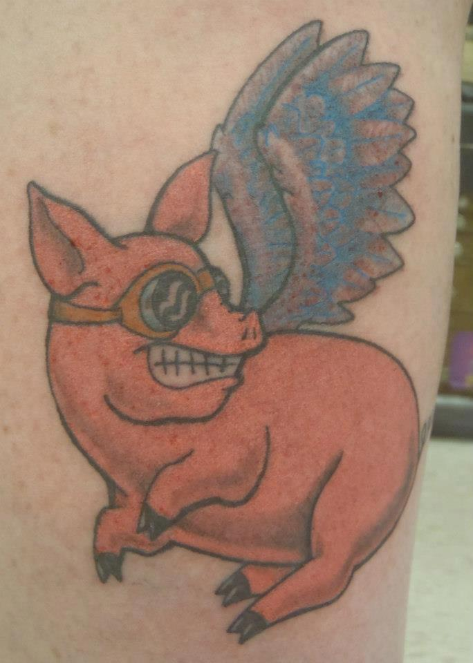 View More  Pig TattoosFlying Pig Tattoo Designs