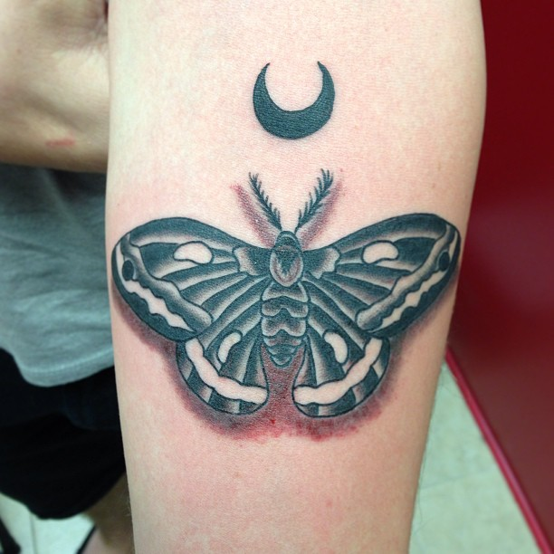 Moth tattoo images designs for Black moon tattoo