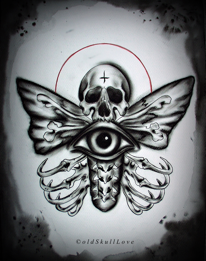tatos me ideas death moth tattoo design. Black Bedroom Furniture Sets. Home Design Ideas