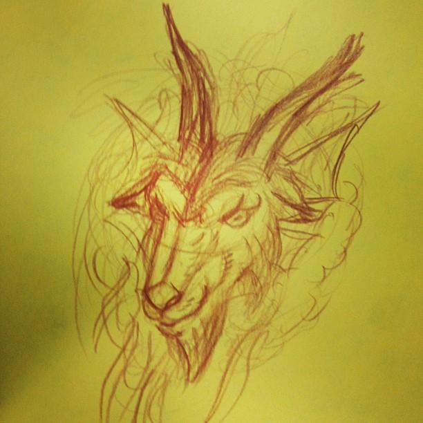 goat head tattoo designs. Black Bedroom Furniture Sets. Home Design Ideas
