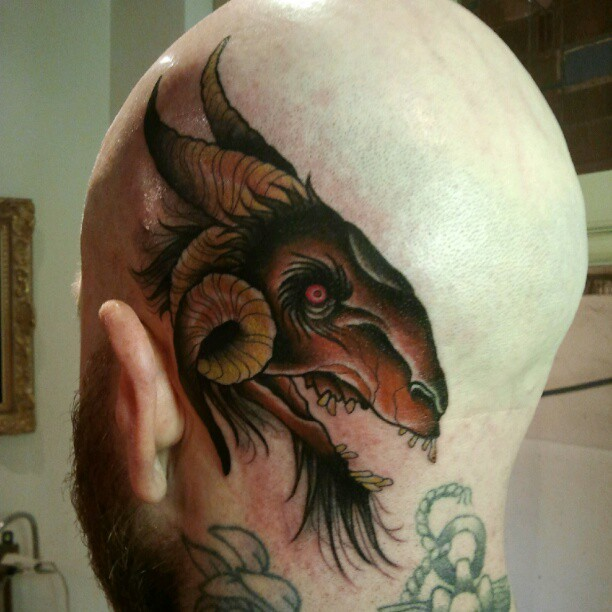 Brown Ink Tattoo: Goat Tattoo Images & Designs