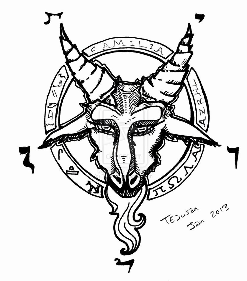 demon goat head drawing sketch coloring page. Black Bedroom Furniture Sets. Home Design Ideas