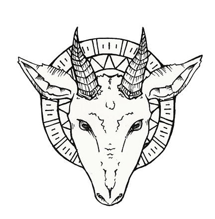 Satanic Goat Head Drawing