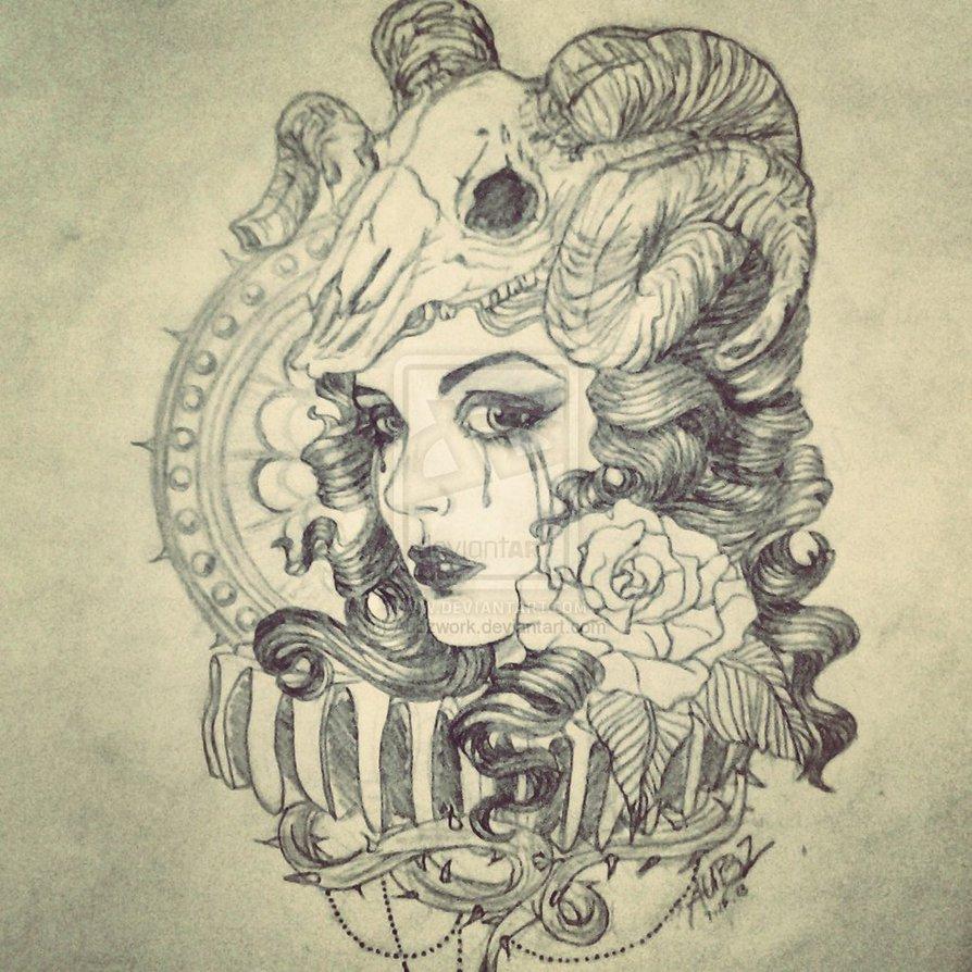 Goat Tattoo Images Amp Designs