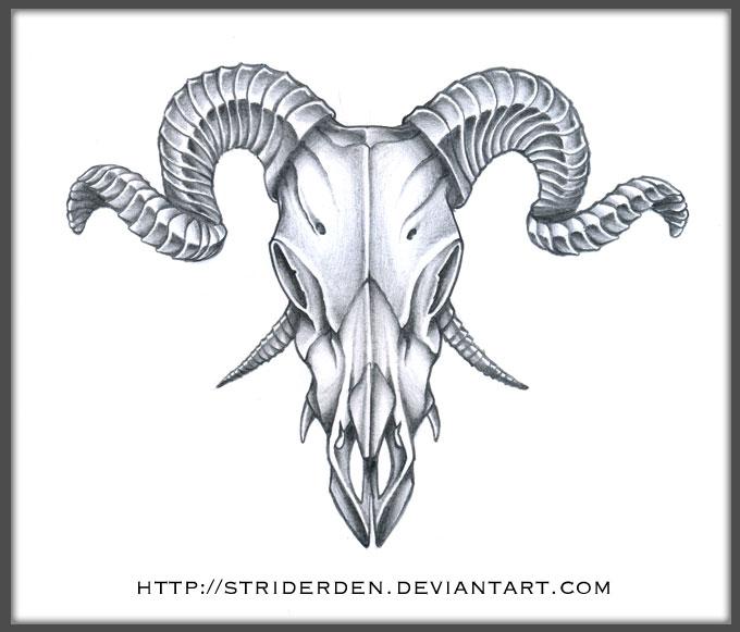 Grey Ink demon Goat Sk...