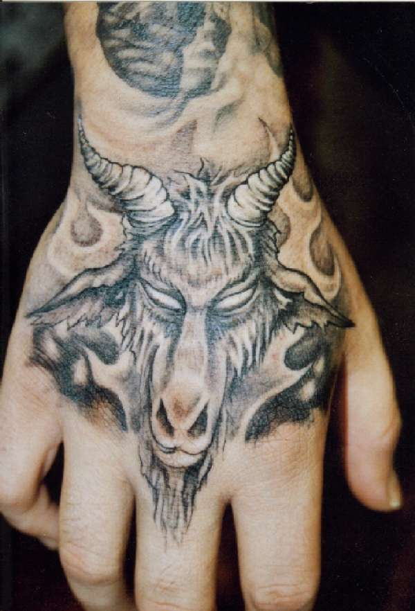 The gallery for --> Satanic Goat Head Tattoo Designs - photo#33