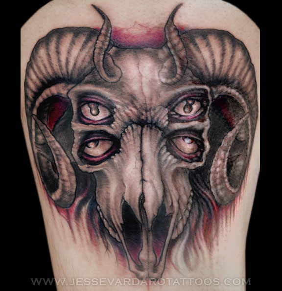 Evil goat tattoo - photo#15