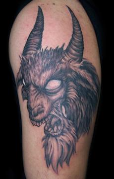 Evil goat tattoo - photo#12