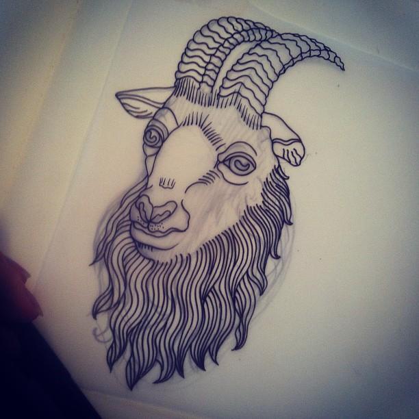 satanic goat head tattoo. Black Bedroom Furniture Sets. Home Design Ideas