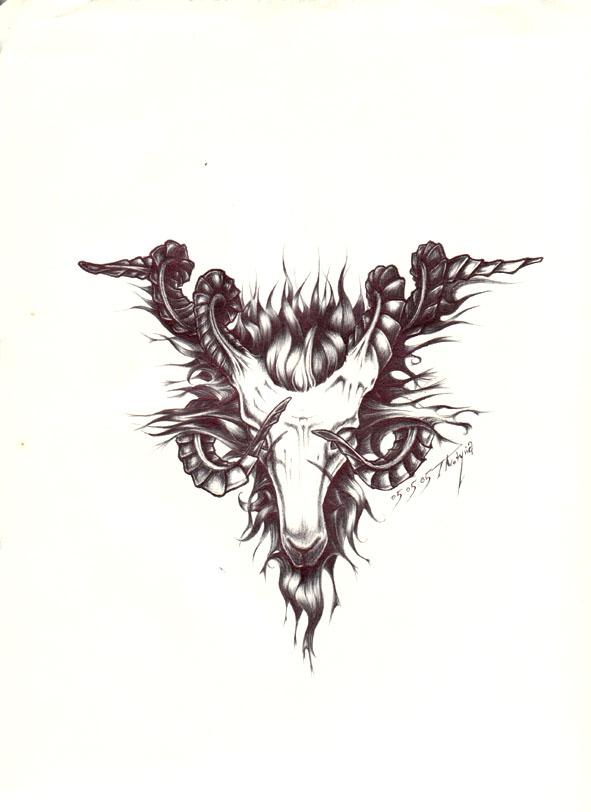 goat tattoo images designs. Black Bedroom Furniture Sets. Home Design Ideas