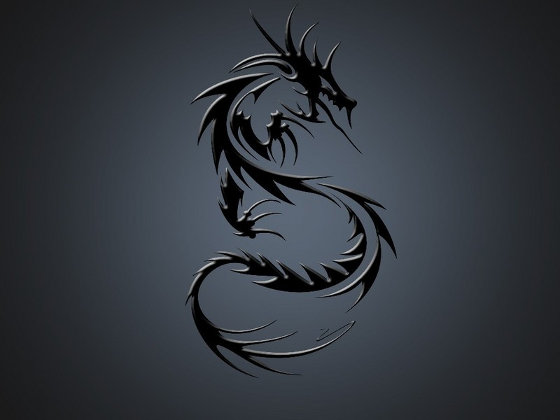 tattoo tribal hd Black Dragon Design Amazing Tattoo Tribal