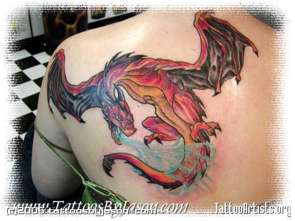 Dragon tattoo images designs for Medieval dragon tattoo
