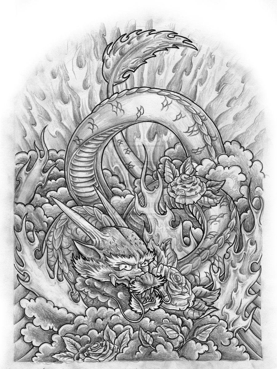 Traditional Japanese Dragon Tattoo Designs Beautiful