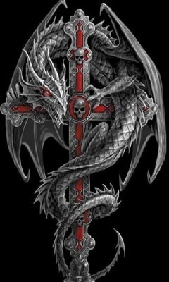 Dragon And Cross Tattoo Design