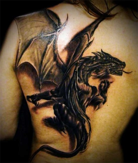 Dragon tattoo images designs for Dragon back tattoo
