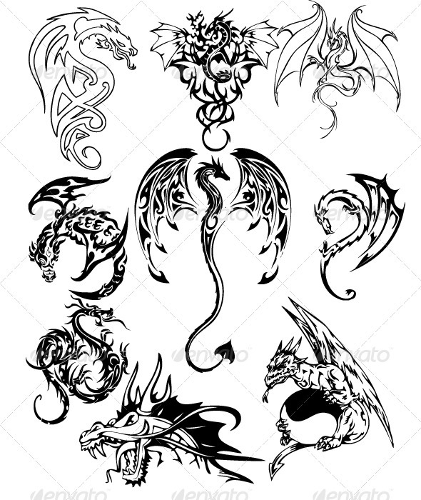 free dragon tattoos designs. Black Bedroom Furniture Sets. Home Design Ideas