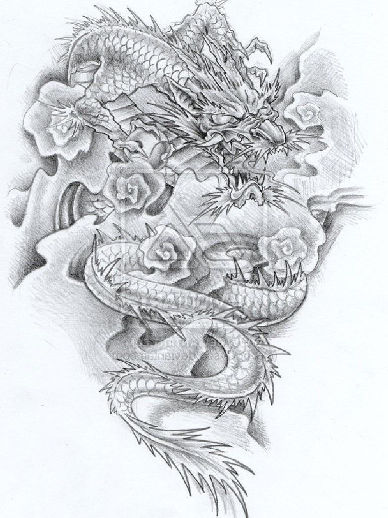 dragon tattoo images designs. Black Bedroom Furniture Sets. Home Design Ideas