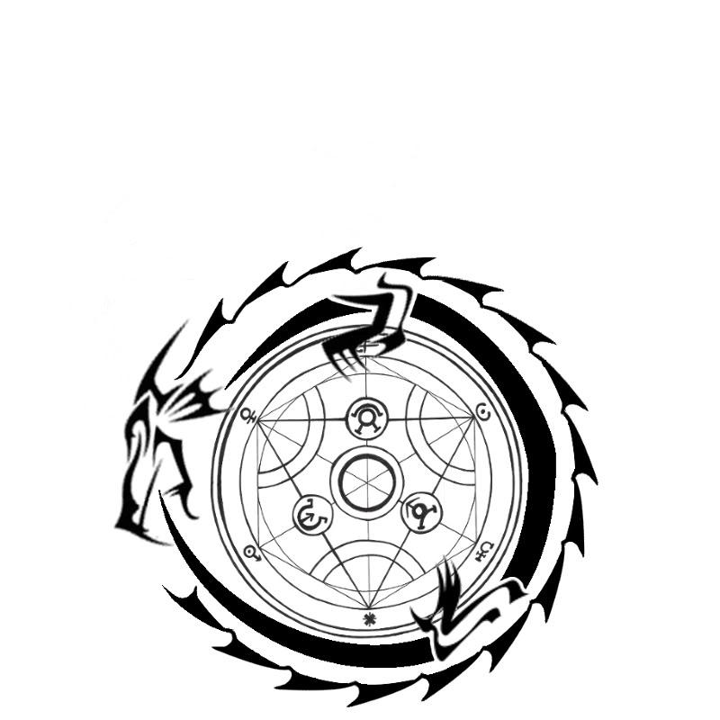 Ouroboros tribal dragon tattoo design maxwellsz