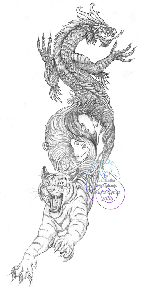 Tiger And Dragon Tattoo Arm Tiger And Dragon Tattoo Design