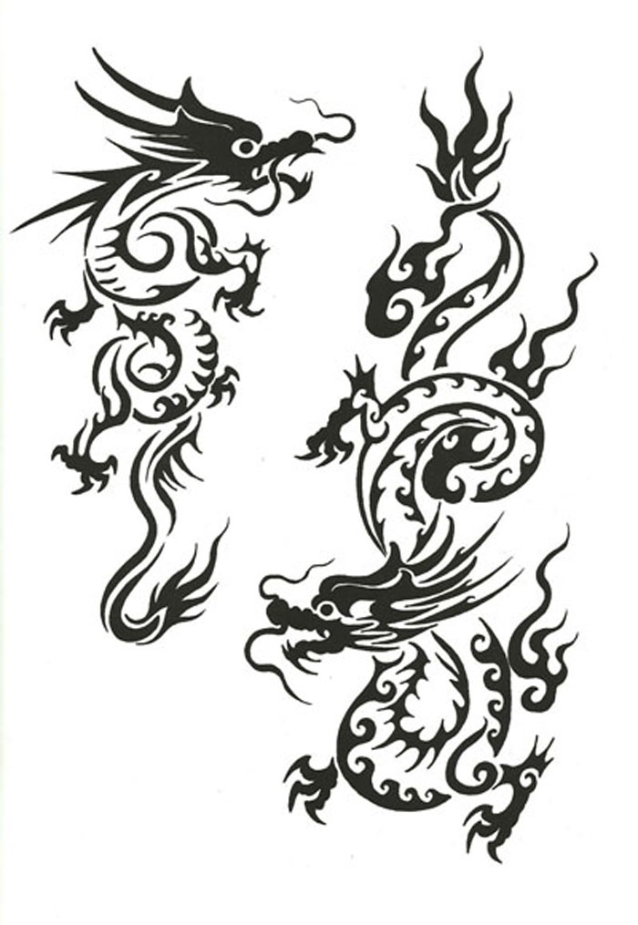 the gallery for simple chinese dragon tattoo designs. Black Bedroom Furniture Sets. Home Design Ideas