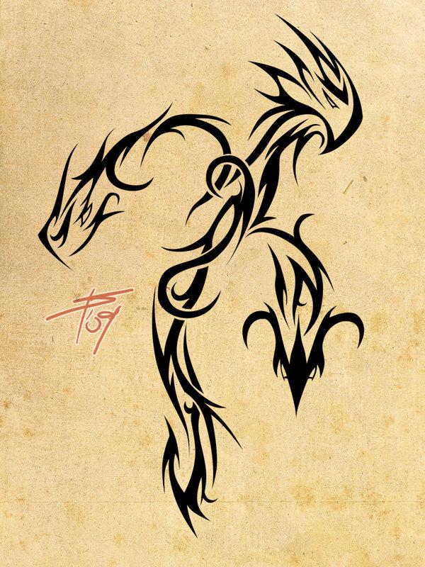 tribal dragon tattoo design for men. Black Bedroom Furniture Sets. Home Design Ideas