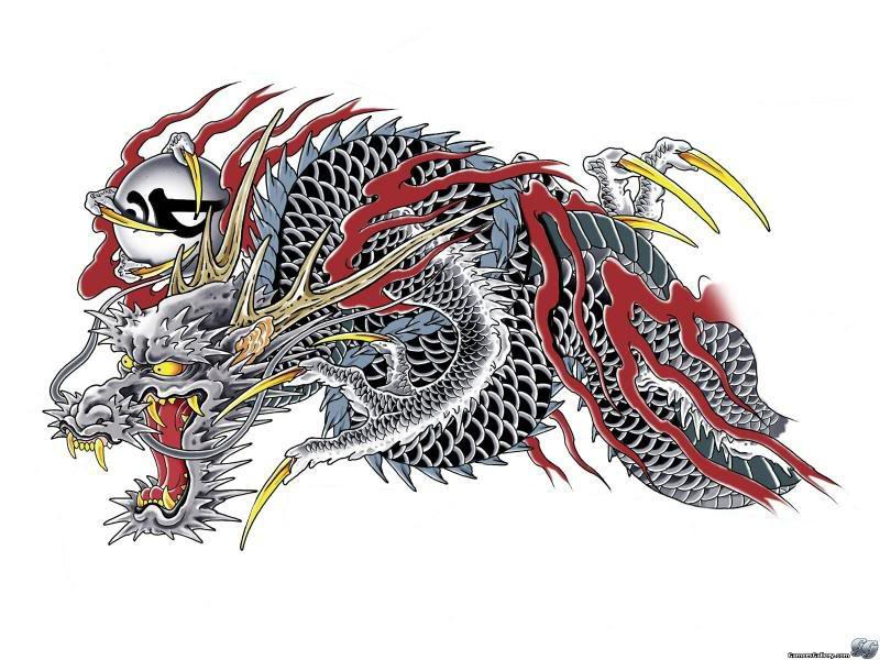 Yakuza Dragon Tattoo Design