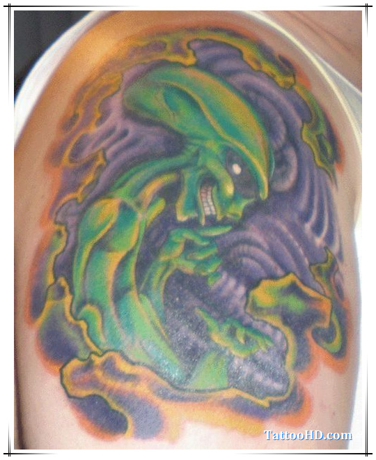 Celtic Greenman Armband: Alien Tattoo Images & Designs