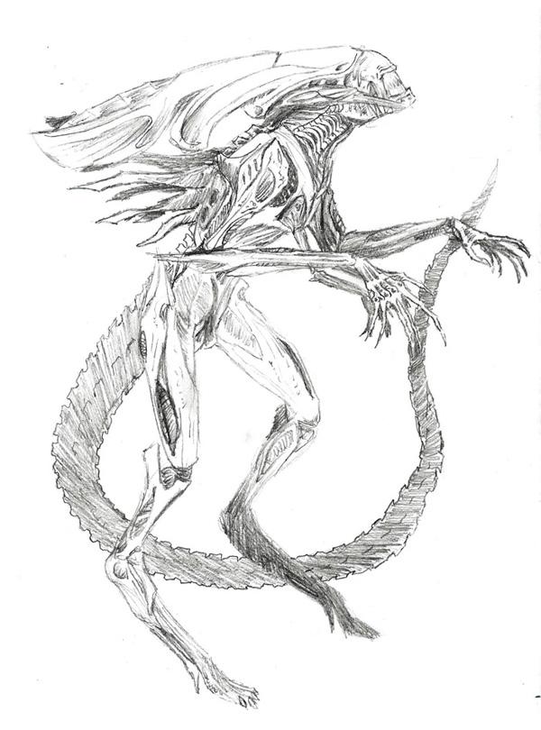 Alien Head Drawing Queen Alien Head Drawings