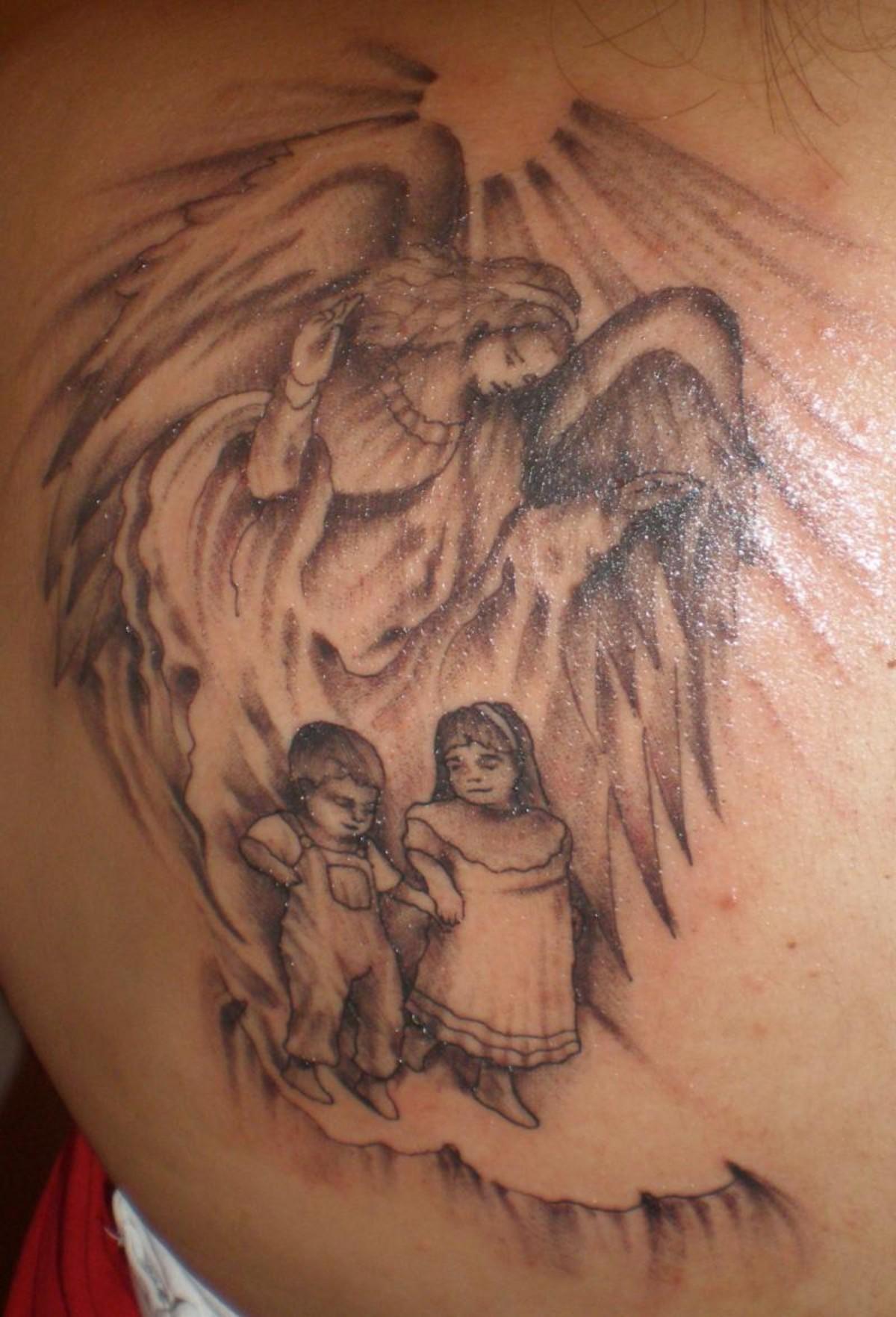 Фото тату ангелов и эскизов