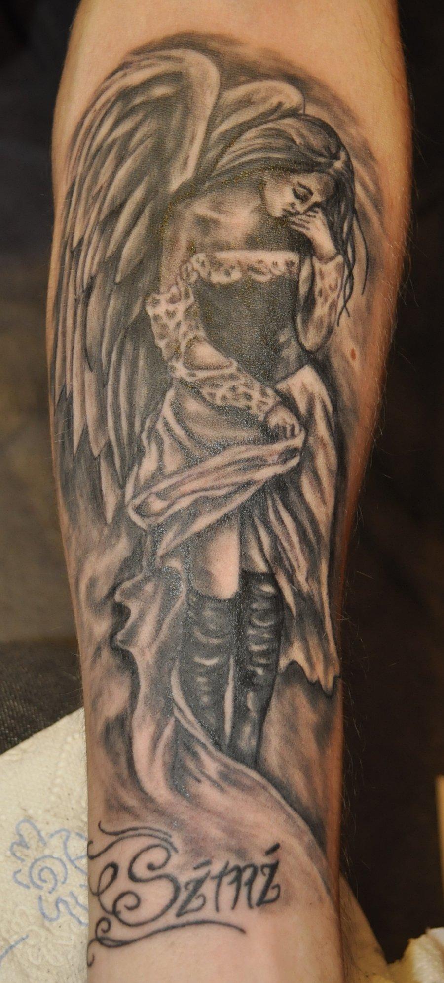 Тату ангелы на руке фото