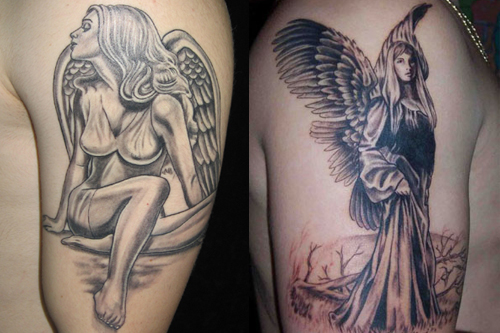 angel tattoo images designs. Black Bedroom Furniture Sets. Home Design Ideas