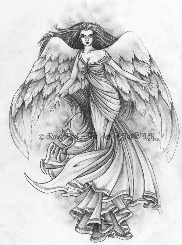 Angels Tattoo Images Large Wings Angel Girl Tattoo