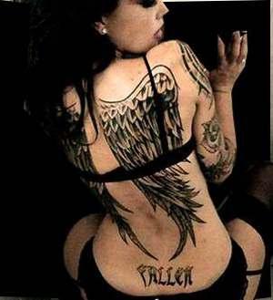 Back Angel Wings Tattoos For Girls