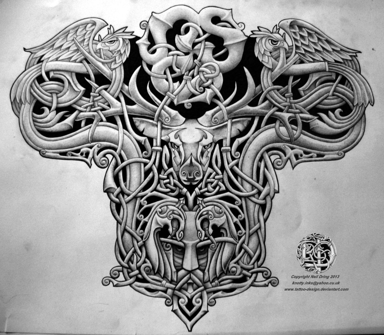 tribal designs celtic sleeve tattoo Warrior Celtic Back Design Tattoo