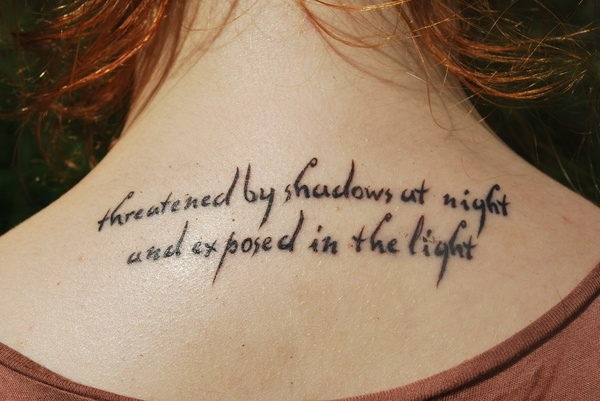 Upper Back Quote Tattoo