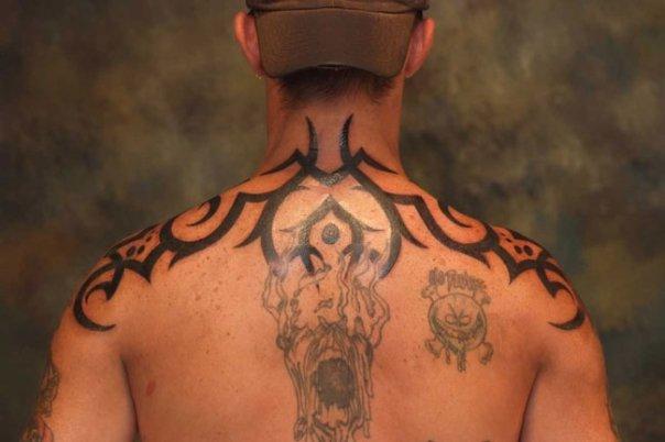 Shoulder Blade Upper Back Tattoos For Men