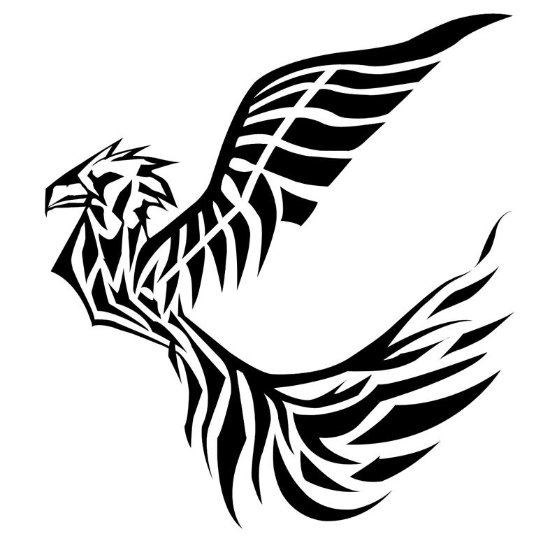 Pics photos tribal black bird tattoo design