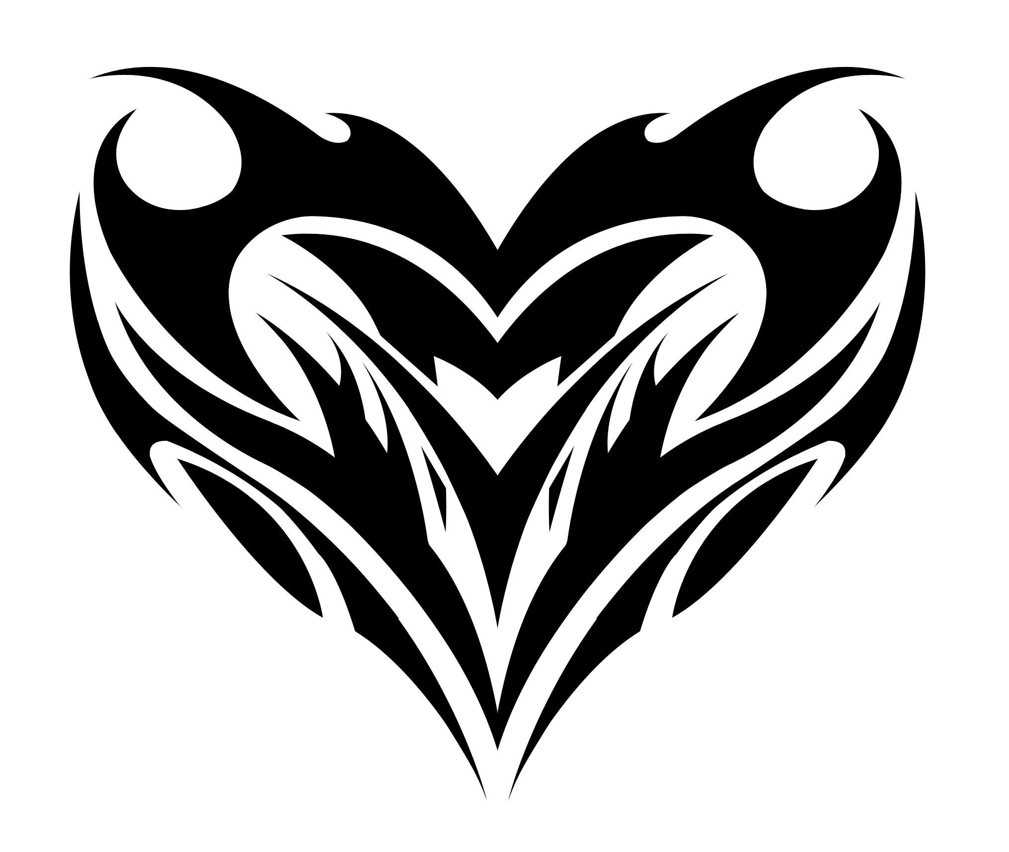 Leo Heart Sign Tattoos Black Ink Tribal Tattoo