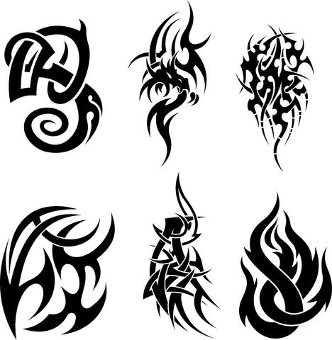 Black ink tribal tattoos deisgn for Black tribal tattoo ink