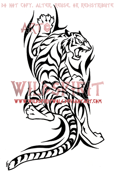 Climbing Tiger and Tribal Tattoo