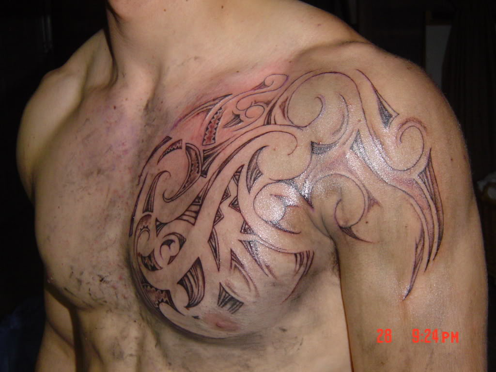 tribal man tattoo Tribal Man Cuban Tattoo Chest