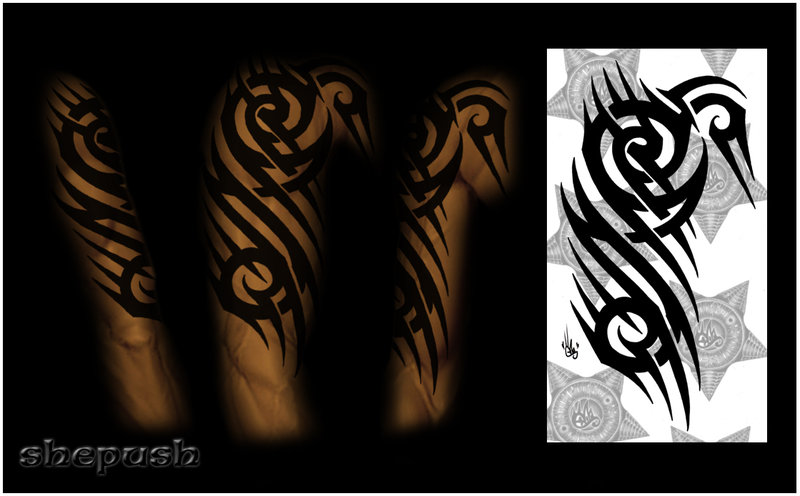 tribal tattoo sleeve sketches Design Half Tattoo Sleeve Tribal